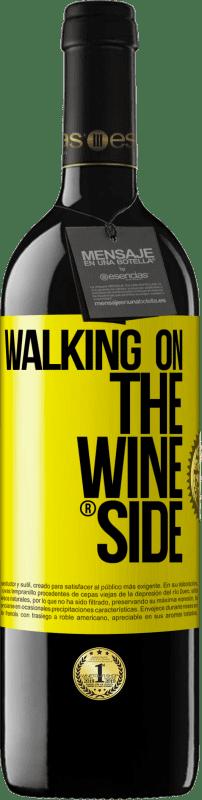 24,95 € Envío gratis | Vino Tinto Edición RED Crianza 6 Meses Walking on the Wine Side® Etiqueta Amarilla. Etiqueta personalizable Crianza en barrica de roble 6 Meses Cosecha 2018 Tempranillo