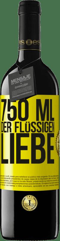 24,95 € Kostenloser Versand | Rotwein RED Ausgabe Crianza 6 Monate 750 ml der flüssigen Liebe Gelbes Etikett. Anpassbares Etikett Ausbau in Eichenfässern 6 Monate Ernte 2018 Tempranillo