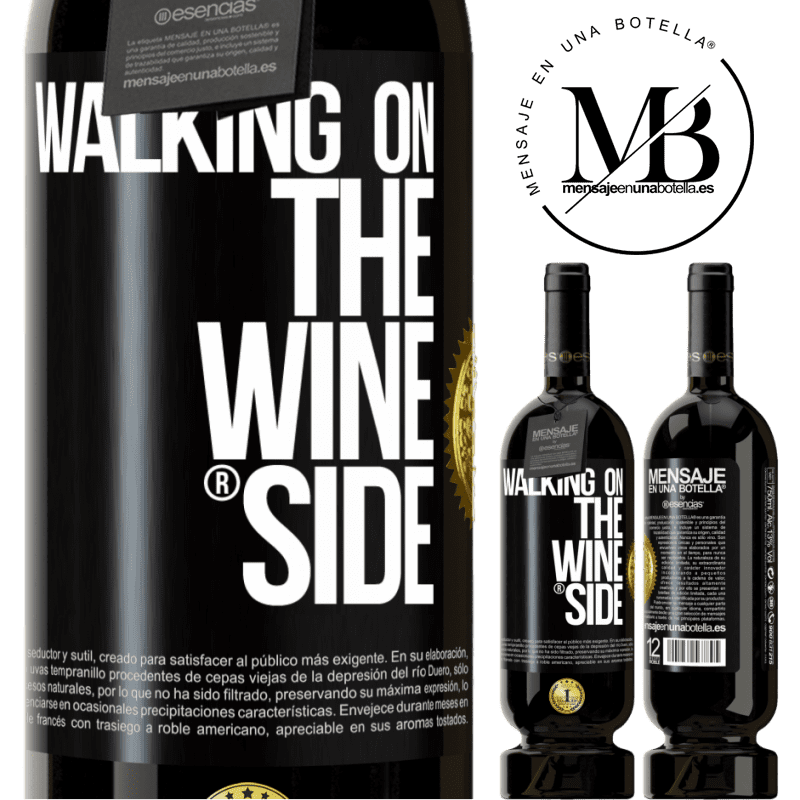 29,95 € Free Shipping | Red Wine Premium Edition MBS® Reserva Walking on the Wine Side® Black Label. Customizable label Reserva 12 Months Harvest 2013 Tempranillo