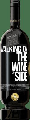 29,95 € Kostenloser Versand | Rotwein Premium Ausgabe MBS® Reserva Walking on the Wine Side® Schwarzes Etikett. Anpassbares Etikett Reserva 12 Monate Ernte 2013 Tempranillo