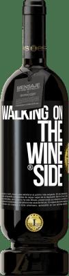 29,95 € Бесплатная доставка | Красное вино Premium Edition MBS® Reserva Walking on the Wine Side® Черная метка. Настраиваемая этикетка Reserva 12 Месяцы Урожай 2013 Tempranillo