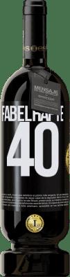 29,95 € Kostenloser Versand | Rotwein Premium Ausgabe MBS® Reserva Fabelhafte 40 Schwarzes Etikett. Anpassbares Etikett Reserva 12 Monate Ernte 2013 Tempranillo