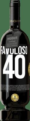 29,95 € Spedizione Gratuita   Vino rosso Edizione Premium MBS® Reserva Favoloso 40 Etichetta Nera. Etichetta personalizzabile Reserva 12 Mesi Raccogliere 2013 Tempranillo