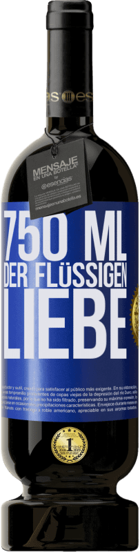 29,95 € Kostenloser Versand | Rotwein Premium Edition MBS® Reserva 750 ml der flüssigen Liebe Blaue Markierung. Anpassbares Etikett Reserva 12 Monate Ernte 2013 Tempranillo