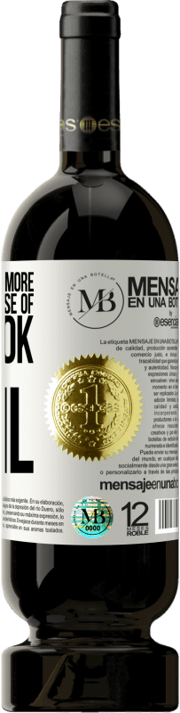 24,95 € Free Shipping   Red Wine Premium Edition RED MBS The devil knows more because of Facebook than being a devil White Label. Customized label I.G.P. Vino de la Tierra de Castilla y León Aging in oak barrels 12 Months Spain Tempranillo