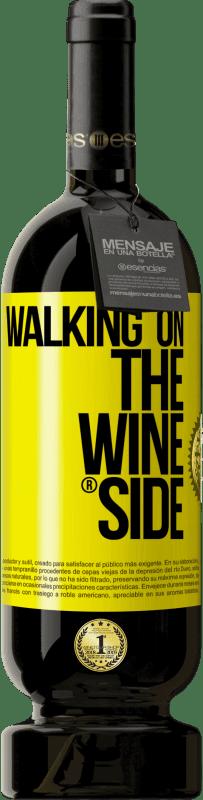 29,95 € 送料無料 | 赤ワイン プレミアム版 MBS® Reserva Walking on the Wine Side® 黄色のラベル. カスタマイズ可能なラベル Reserva 12 月 収穫 2013 Tempranillo