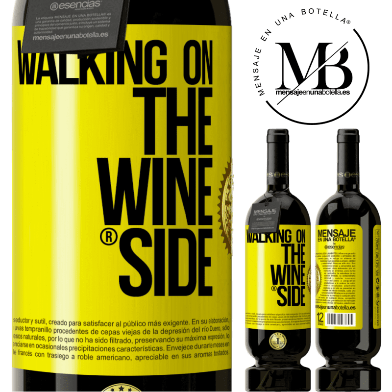 29,95 € Free Shipping   Red Wine Premium Edition MBS® Reserva Walking on the Wine Side® Yellow Label. Customizable label Reserva 12 Months Harvest 2013 Tempranillo