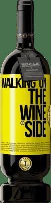 24,95 € Envío gratis | Vino Tinto Edición Premium RED MBS Walking on the Wine Side® Etiqueta Amarilla. Etiqueta personalizada I.G.P. Vino de la Tierra de Castilla y León Crianza en barrica de roble 12 Meses España Tempranillo