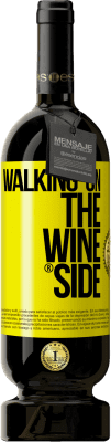 35,95 € Kostenloser Versand | Rotwein Premium Edition MBS Reserva Walking on the Wine Side® Gelbes Etikett. Anpassbares Etikett I.G.P. Vino de la Tierra de Castilla y León Ausbau in Eichenfässern 12 Monate Ernte 2013 Spanien Tempranillo