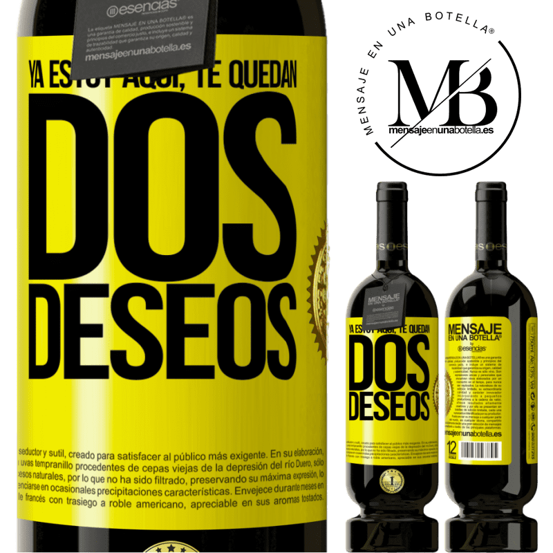 29,95 € Free Shipping   Red Wine Premium Edition MBS® Reserva I'm already here. You have two wishes Yellow Label. Customizable label Reserva 12 Months Harvest 2013 Tempranillo