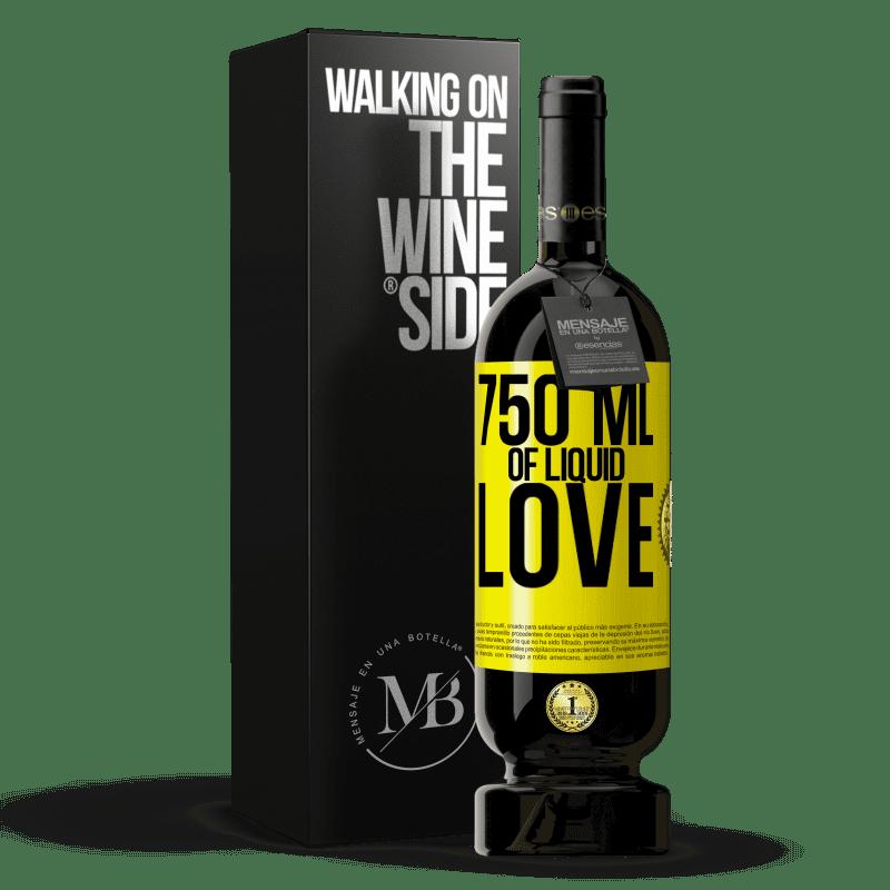 29,95 € Free Shipping | Red Wine Premium Edition MBS® Reserva 750 ml of liquid love Yellow Label. Customizable label Reserva 12 Months Harvest 2013 Tempranillo