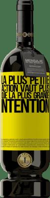 29,95 € Envoi gratuit   Vin rouge Édition Premium MBS® Reserva La plus petite action vaut plus que la plus grande intention Étiquette Jaune. Étiquette personnalisable Reserva 12 Mois Récolte 2013 Tempranillo