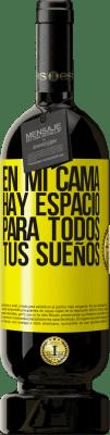 29,95 € Envío gratis   Vino Tinto Edición Premium MBS® Reserva En mi cama hay espacio para todos tus sueños Etiqueta Amarilla. Etiqueta personalizable Reserva 12 Meses Cosecha 2013 Tempranillo
