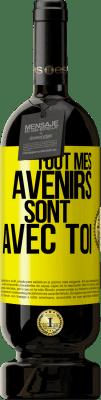 29,95 € Envoi gratuit | Vin rouge Édition Premium MBS® Reserva Tout mon avenir est avec toi Étiquette Jaune. Étiquette personnalisable Reserva 12 Mois Récolte 2013 Tempranillo