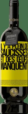 29,95 € Envoi gratuit   Vin rouge Édition Premium MBS® Reserva Il y a plein de saucisses et des œufs manquent Étiquette Jaune. Étiquette personnalisable Reserva 12 Mois Récolte 2013 Tempranillo