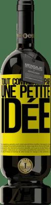 29,95 € Envoi gratuit   Vin rouge Édition Premium MBS® Reserva Tout commence par une petite idée Étiquette Jaune. Étiquette personnalisable Reserva 12 Mois Récolte 2013 Tempranillo