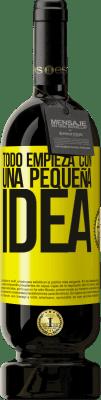 29,95 € Envío gratis   Vino Tinto Edición Premium MBS® Reserva Todo empieza con una pequeña idea Etiqueta Amarilla. Etiqueta personalizable Reserva 12 Meses Cosecha 2013 Tempranillo