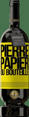 29,95 € Envoi gratuit | Vin rouge Édition Premium MBS® Reserva Pierre, papier ou bouteille Étiquette Jaune. Étiquette personnalisable Reserva 12 Mois Récolte 2013 Tempranillo