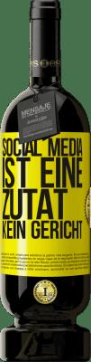 29,95 € Kostenloser Versand | Rotwein Premium Edition MBS® Reserva Social Media ist eine Zutat, kein Gericht Gelbes Etikett. Anpassbares Etikett Reserva 12 Monate Ernte 2013 Tempranillo