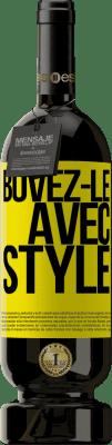 24,95 € Envoi gratuit | Vin rouge Édition Premium RED MBS Buvez-le avec style Étiquette Jaune. Étiquette personnalisée I.G.P. Vino de la Tierra de Castilla y León Vieillissement en fûts de chêne 12 Mois Récolte 2016 Espagne Tempranillo