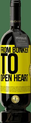 24,95 € Free Shipping | Red Wine Premium Edition RED MBS From bunker to open heart Yellow Label. Customized label I.G.P. Vino de la Tierra de Castilla y León Aging in oak barrels 12 Months Harvest 2016 Spain Tempranillo