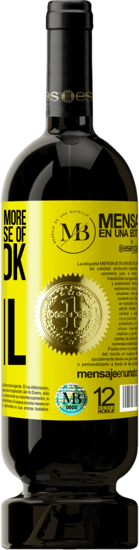 24,95 € Free Shipping | Red Wine Premium Edition RED MBS The devil knows more because of Facebook than being a devil Yellow Label. Customized label I.G.P. Vino de la Tierra de Castilla y León Aging in oak barrels 12 Months Harvest 2016 Spain Tempranillo