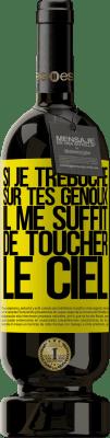 24,95 € Envoi gratuit | Vin rouge Édition Premium RED MBS Si je trébuche sur tes genoux il me suffit de toucher le ciel Étiquette Jaune. Étiquette personnalisée I.G.P. Vino de la Tierra de Castilla y León Vieillissement en fûts de chêne 12 Mois Récolte 2016 Espagne Tempranillo