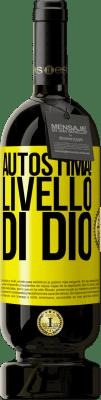 24,95 € Spedizione Gratuita | Vino rosso Edizione Premium RED MBS Autostima! Livello di Dio Etichetta Gialla. Etichetta personalizzata I.G.P. Vino de la Tierra de Castilla y León Invecchiamento in botti di rovere 12 Mesi Raccogliere 2016 Spagna Tempranillo
