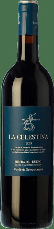 16,95 € Free Shipping | Red wine Atalayas de Golbán La Celestina Vendimia Seleccionada Reserva D.O. Ribera del Duero Castilla y León Spain Tempranillo Bottle 75 cl