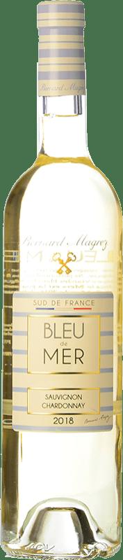 8,95 € Free Shipping   White wine Bernard Magrez Bleu de Mer I.G.P. Vin de Pays d'Oc Languedoc France Chardonnay, Sauvignon White Bottle 75 cl