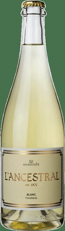 14,95 € Free Shipping | White sparkling Mont-Rubí l'Ancestral Blanc Brut Spain Parellada Bottle 75 cl