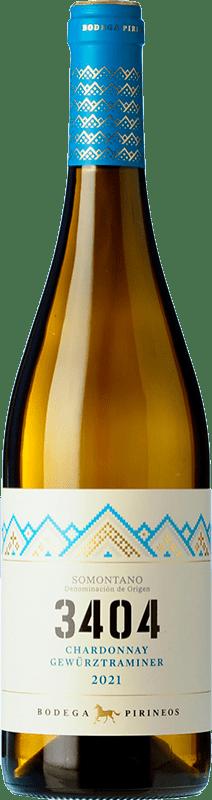 5,95 € Free Shipping | White wine Pirineos 3404 Blanco D.O. Somontano Catalonia Spain Chardonnay, Gewürztraminer Bottle 75 cl