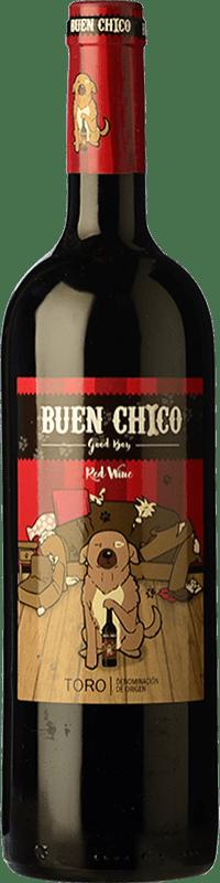 12,95 € Free Shipping | Red wine Frutos Villar Buen Chico Crianza D.O. Toro Castilla y León Spain Tempranillo Bottle 75 cl
