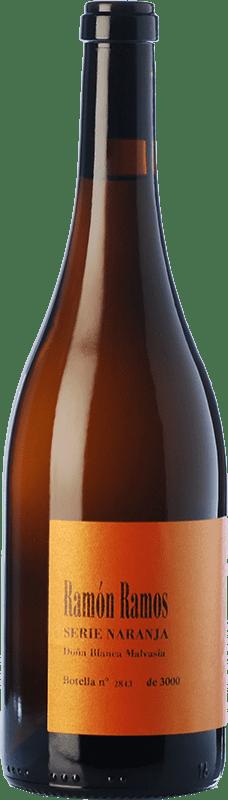 9,95 € Free Shipping | White wine Ramón Ramos Serie Naranja Blanco Fermentado en Barrica Crianza D.O. Toro Castilla y León Spain Malvasía, Doña Blanca Bottle 75 cl