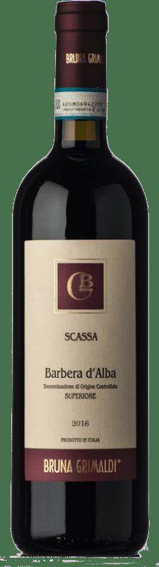 16,95 € Free Shipping | Red wine Bruna Grimaldi Scassa Superiore D.O.C. Barbera d'Alba Piemonte Italy Barbera Bottle 75 cl