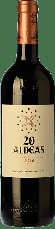 17,95 € Free Shipping | Red wine Condado de Haza 20 Aldeas Crianza I.G.P. Vino de la Tierra de Castilla y León Castilla y León Spain Tempranillo Bottle 75 cl