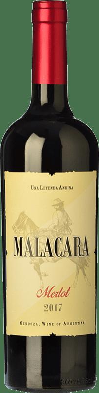 9,95 € Free Shipping | Red wine Kauzo Malacara Joven I.G. Mendoza Mendoza Argentina Merlot Bottle 75 cl