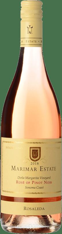 27,95 € Free Shipping | Rosé wine Marimar Estate Rosaleda Rosé I.G. Sonoma Coast Sonoma Coast United States Pinot Black Bottle 75 cl