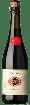11,95 € Free Shipping   Red sparkling Rinaldini Lambrusco Frizzante Vecchio Moro I.G.T. Emilia Romagna Emilia-Romagna Italy Lambrusco Salamino, Lambrusco Grasparossa, Ancellotta Bottle 75 cl