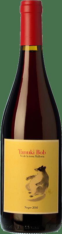 17,95 € Free Shipping | Red wine 4 Kilos Tanuki Bob Crianza I.G.P. Vi de la Terra de Mallorca Balearic Islands Spain Mantonegro Bottle 75 cl