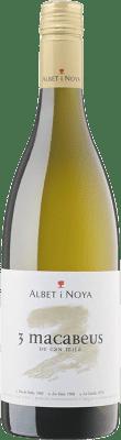 8,95 € Envío gratis | Vino blanco Albet i Noya 3 Macabeus D.O. Penedès Cataluña España Macabeo Botella 75 cl