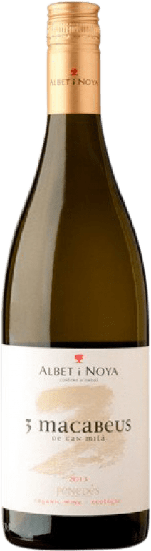 9,95 € Free Shipping | White wine Albet i Noya 3 Macabeus D.O. Penedès Catalonia Spain Macabeo Bottle 75 cl