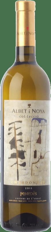21,95 € Envío gratis | Vino blanco Albet i Noya Col·lecció Crianza D.O. Penedès Cataluña España Chardonnay Botella 75 cl