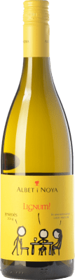 12,95 € Free Shipping | White wine Albet i Noya Lignum D.O. Penedès Catalonia Spain Chardonnay, Sauvignon White Bottle 75 cl