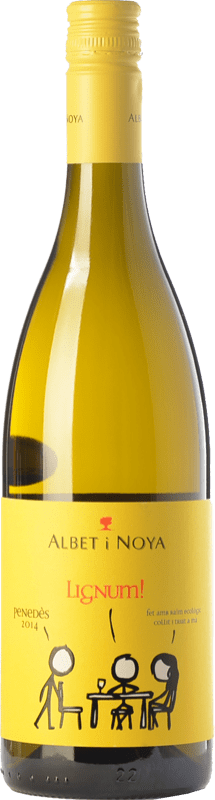 9,95 € Envío gratis | Vino blanco Albet i Noya Lignum D.O. Penedès Cataluña España Chardonnay, Sauvignon Blanca Botella 75 cl