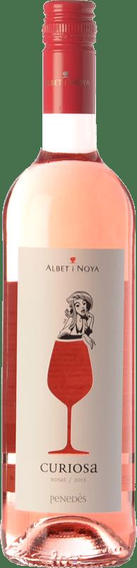 7,95 € Envío gratis | Vino rosado Albet i Noya Rosat Curiosa D.O. Penedès Cataluña España Merlot, Pinot Negro Botella 75 cl