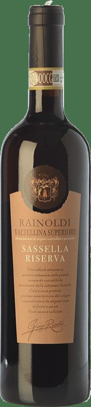 32,95 € Envío gratis | Vino tinto Rainoldi Sassella Riserva Reserva D.O.C.G. Valtellina Superiore Lombardia Italia Nebbiolo Botella 75 cl