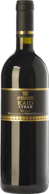 21,95 € Free Shipping | Red wine Alessandro di Camporeale Kaid I.G.T. Terre Siciliane Sicily Italy Syrah Bottle 75 cl