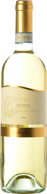 9,95 € Envío gratis | Vino blanco Allegrini D.O.C. Soave Veneto Italia Chardonnay, Garganega Botella 75 cl