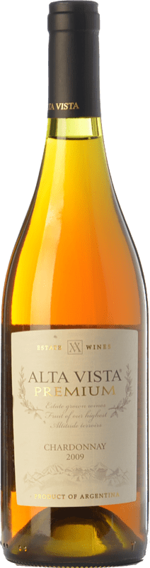15,95 € Envío gratis | Vino blanco Altavista Premium I.G. Mendoza Mendoza Argentina Chardonnay Botella 75 cl